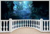 Huge 3D Balcony Fantasy Under Sea Wall Stickers Decal Wallpaper 487