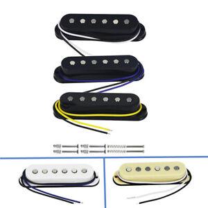 Alnico-5-Single-Coil-Flacher-Pol-Strat-Gitarre-Pickup-Hals-Mitte-Bruecke-Set