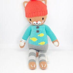 Cuddle-Kind-Maximus-The-Cat-14-Knit-Plush-Doll-Stuffed-Animal-Fish-Sweater