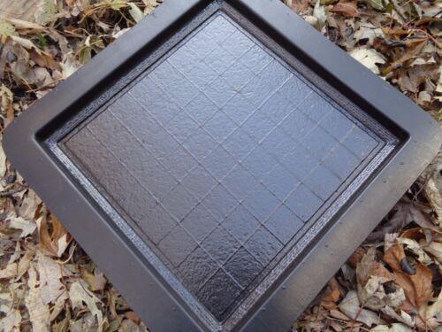 """Chess checker board mould 9.5/"""" x 9.5/"""" x 3//4/"""" thick plaster concrete mold"""
