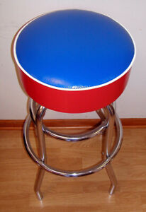 Red-White-amp-Blue-Patriot-American-Flag-Swivel-Chair-Bar-Stool-Stools-Color