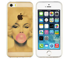 TPU Case f Apple iPhone SE / 5S Schutzhülle Tasche Cover Marylin Monroe Kaugummi