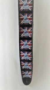 Def-Leppard-High-Quality-Guitar-Strap-British-Flag-Rock-Band-Leopard-UK