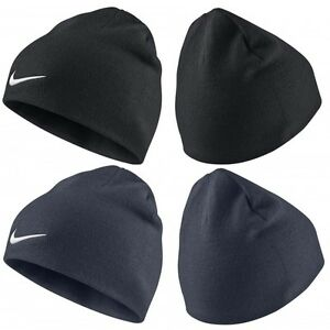 231a1882857 Nike Team Performance Beanie Hat Tick Swoosh Fan Official Black Or ...