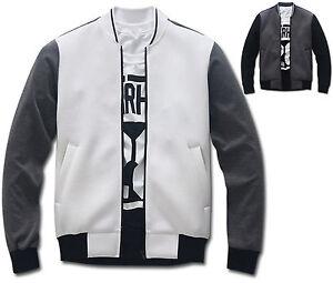 Mens-Slim-Ribbed-Collar-Baseball-Jumper-Blouson-Jacket-Blazer-Outwear-W009-S-M