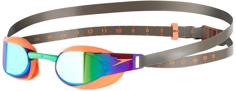 Speedo Fastskin Elite Mirror Swimming Goggles - orange