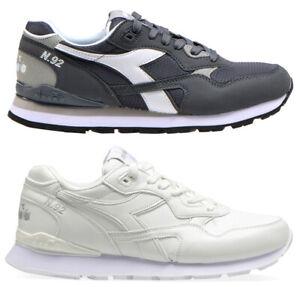 DIADORA-N-92-scarpe-sportive-nero-uomo-casual-ginnastica-running-sneakers-men