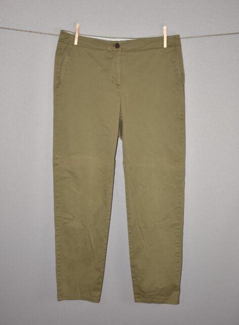 J. JILL $90 Green Live In Chino Pants Slim Straight Leg Size 10