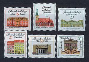 ALEMANIA-RDA-EAST-GERMANY-1971-MNH-SC-1287-92-Berlin-Buildings