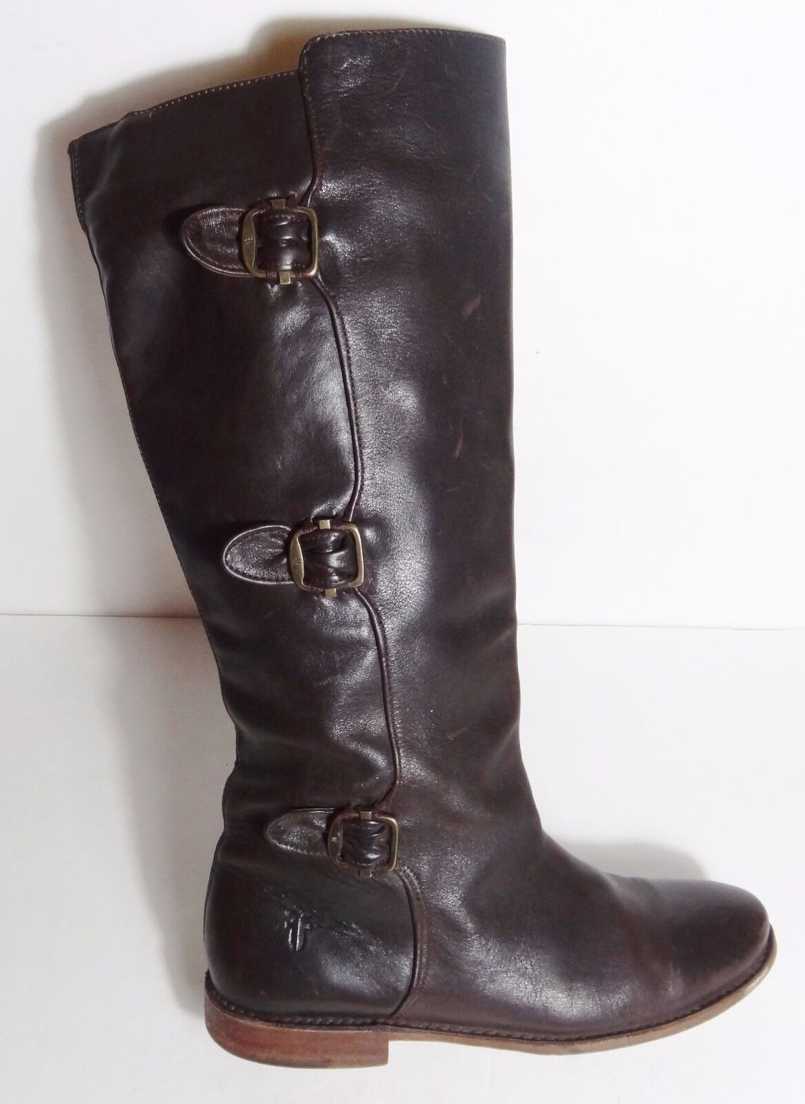 350 Frye damen buckle horse braun Antique Pull Up Paige Tall Riding Stiefel 7.5