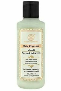 Khadi Natural Herbal Hair Cleanser/Shampoo, Neem and Aloevera, SLS/Paraben Free