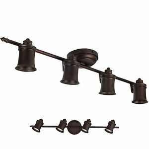 Oil-Rubbed-Bronze-4-Light-Track-Lighting-Ceiling-or-Wall-Fixture-Interior