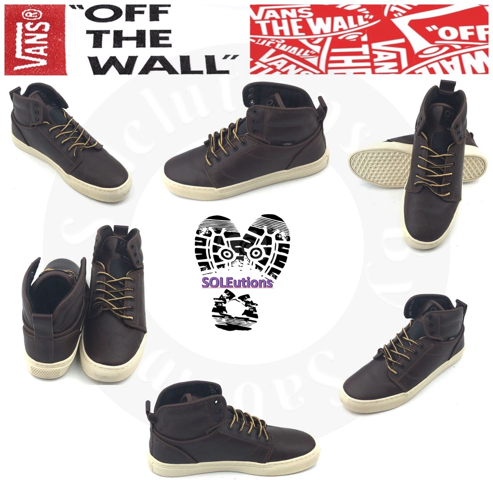 VANS OTW Alomar (Monogram) Leather Boot Brown Turtledove M6.5