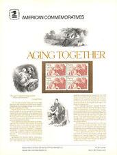 #165 20c Aging Together #2011 USPS Commemorative Stamp Panel