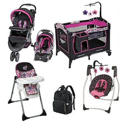 Girl Combo Stroller with Car Seat Baby Comfy Swing Chair ...