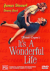 FRANK-CAPRA-MOVIE-034-IT-039-S-A-WONDERFUL-LIFE-034-DVD-1940s-B-amp-W-Black-and-White