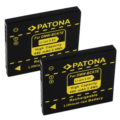 2x Batteria Patona 680mAh li-ion per Panasonic Lumix DMC-FS35,DMC-FS37,DMC-FS40