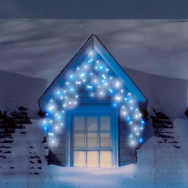 IN OUTDOOR CHRISTMAS SNOWING L.E.D ICICLE LIGHTS 900 ICE WARM WHITE XMAS PARTY