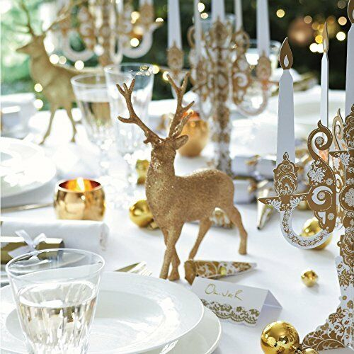 Gold Reindeer Christmas Table Decoration