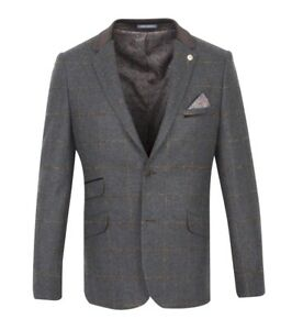 amp; 3295 Guide Jacket Tan Mix Wool London Check Jk Charcoal 7nTBH