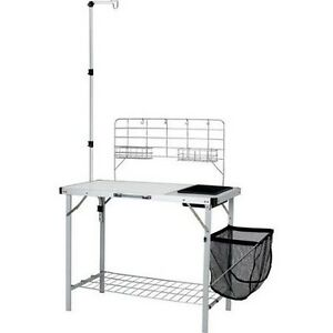 Details about Portable Kitchen Sink Table Outdoor Folding Camping Camp ...