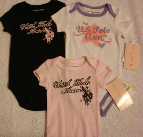 BODYSUIT//CREEPER SIZES NB-9 MONTHS  NWT INFANT GIRLS DESIGNER U.S POLO ASSN