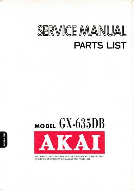Service Scheme  Schematics Diagram For Akai Gx