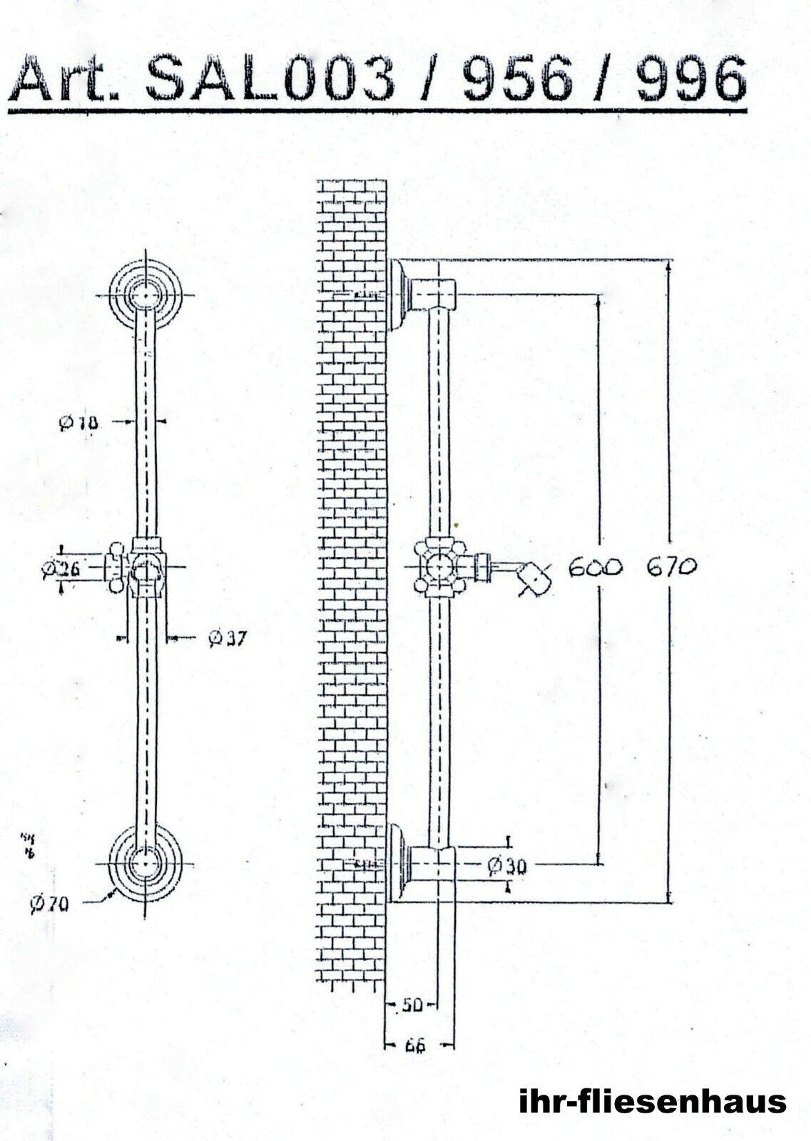 Retro Duschgarnitur Duschgarnitur Duschgarnitur bronze altmessing gebürstet Handbrause Epoca m. weißem Griff | Bunt,  147c43