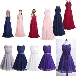 Kids-Flower-Girl-Princess-Dress-Girls-Pageant-Party-Wedding-Bridesmaid-Long-Gown