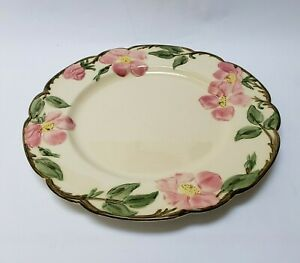 Franciscan-Ware-Dinner-Plate-Desert-Rose-10-1-2-034-Hand-Decorated-USA