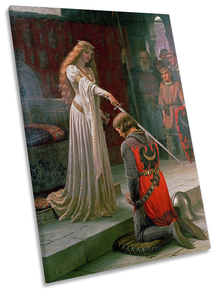 Edmund Blair Leighton Accolade CANVAS WALL ART Portrait Print