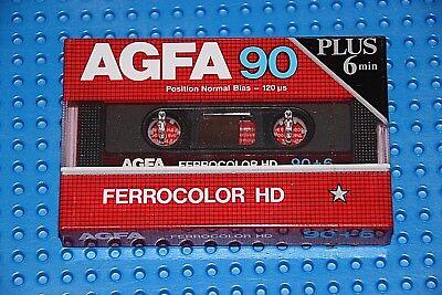 1 SEALED AGFA  SUPER FERRO DYNAMIC I   90+6      BLANK CASSETTE TAPE