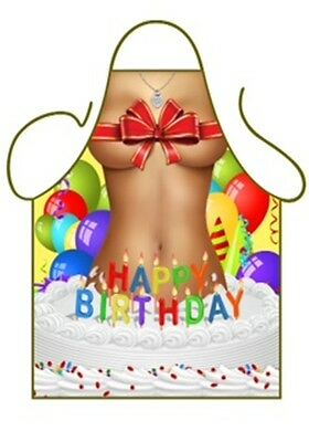 Fantastic Womens Fun Novelty Apron Sexy Happy Birthday Girl Jumps From Funny Birthday Cards Online Aeocydamsfinfo