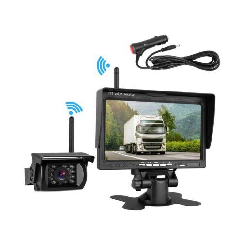"Wireless Backup Camera And 7/"" HD LCD Monitor Kit For RV//SUV//Van//Pickup//Truck//..."