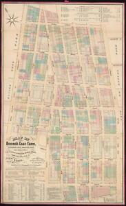Details about 1869 Holmes Map of Little Italy, Nolita, and Soho, Manhattan,  NYC