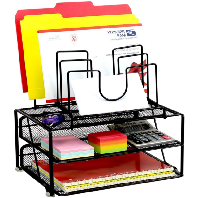 Mesh Letter Sorter Mail Document Desk Tray Office File Organiser Business DECO