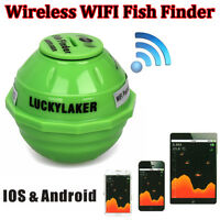 Sonar Wireless Wifi Sea Fish Detect Finder Fishfinder 50m Fr Ios Android Hot