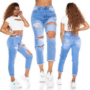 Jeans Ladies High Waist Boyfriend Jeans Trousers Used Look