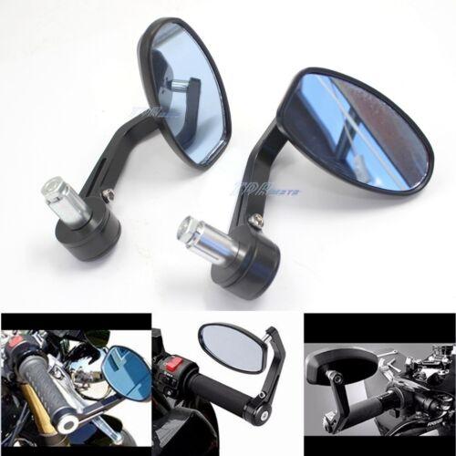 "Universal Motorcycle Black 7//8/"" Handle Bar End Mirrors 4 KTM Duke 620 640 690"