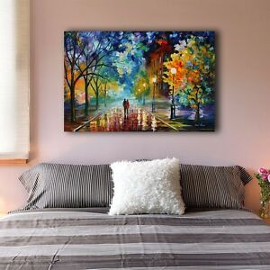 Romantic-Night-Stretched-Canvas-Prints-Wall-Art-Home-Decor-Framed-Painting-V