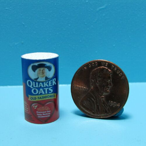 Dollhouse Miniature Replica Container of Quaker Oats Oatmeal ~ G136