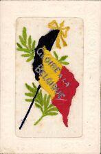 WW1 Silk. Gloire a la Belgique. Belgian Flag.