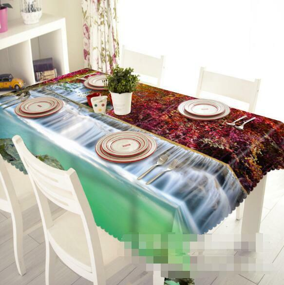 3D Wsterfall 8 Tablecloth Table Cover Cloth Birthday Party Event AJ WALLPAPER AU