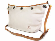 Auth BURBERRY LONDON BLUE LABEL Canvas Leather Pink Cross-Body Shoulder Bag