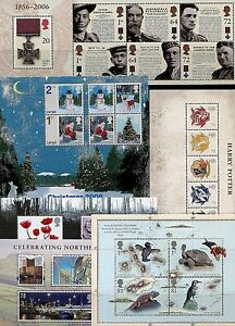 GB-2006-2011-Mini-Miniature-Sheets-Multiple-Listing-mint-mnh