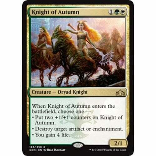 2x Knight of Autumn Near Mint Magic modern legacy standard Guilds of Ravnica GRN