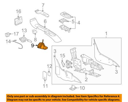 Chevrolet GM OEM 03-05 SSR Transmission-Gear Shift Shifter Assy 15235213
