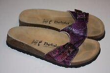 Birkenstock Betula Purple Black Snake Print Slide Sandals Women 260 L 9, Nice