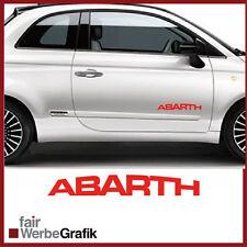 2 Stück Set Fiat Abarth Sticker Style Punto Skorpion 500 Dekor Aufkleber #104