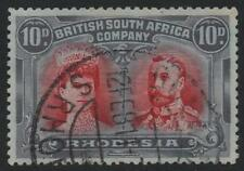 RHODESIA: 1910-13 10d Double Head - Used Example in an Unusual Shade (8579)